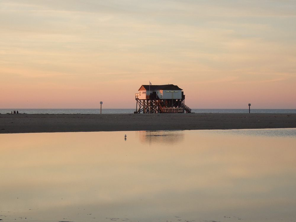 12 Abend Am Strand St Peter Ording